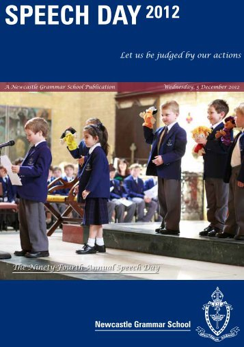 Download the 1.0Mb PDF Programme - Newcastle Grammar School