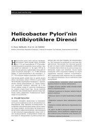 Helicobacter Pylori'nin Antibiyotiklere Direnci - Güncel Gastroenteroloji