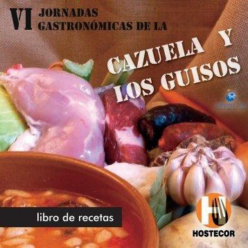 LIBRO JORNADAS DE LA CAZUELA Y LOS GUISOS ... - Hostecor