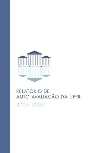 relatório de auto-avaliação da ufpr 2007–2008 - Proplan ...