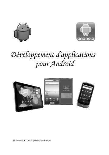 Développement d'applications pour Android - IUT Bayonne