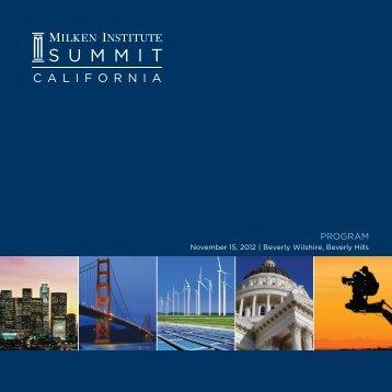 Download the Program - Milken Institute