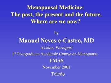 Menopausal - Dr. Manuel Neves e Castro