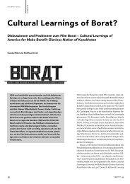 Cultural Learnings of Borat? - FSF