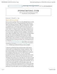 POPSURFING.COM_ Borat and Jesus Camp - Michael Giltz
