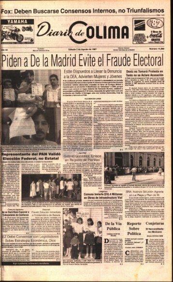 idea a De la Madrid Evite el Fraude Electora l - Universidad de Colima