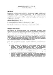 RESERVA NATURAL LAS UNAMAS SAN MARTIN, META ...