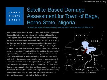 Satellite-Based Damage Assessment for Town of Baga, Borno State, Nigeria