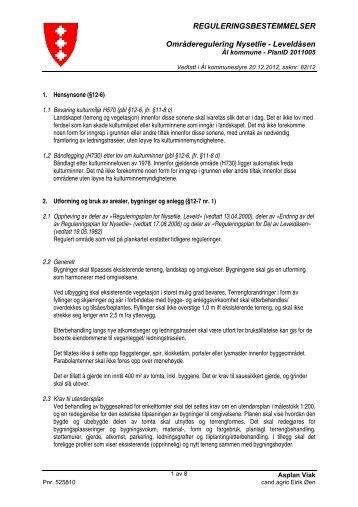 Planføresegner - Ål kommune
