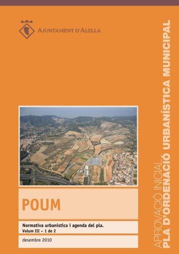 Normativa urbanística i agenda del pla. Volum III - ALELLA