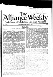 Editorials - Christian and Missionary Alliance