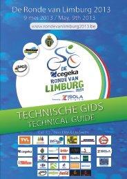 TECHNISCHE GIDS TECHNISCHE GIDS - Ronde van Limburg