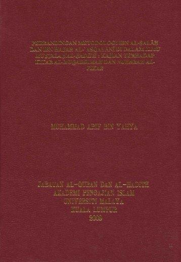 Page 1 Page 2 PERBANDINGAN METODOLOGI IBN AL-SALÃH ...