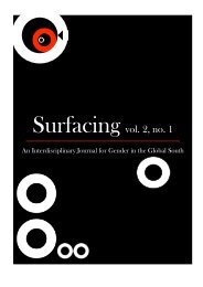 Surfacing vol. 2, no. 1 - The American University in Cairo