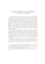 alguns aspectos do classicismo de antónio ferreira - Universidade ...
