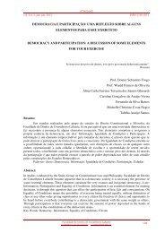democracia e participação: uma reflexão sobre alguns elementos