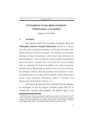 Os Principia de Newton, alguns comentários (Primeira parte, a ...