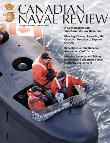 Full issue in PDF format - Canadian Naval Review