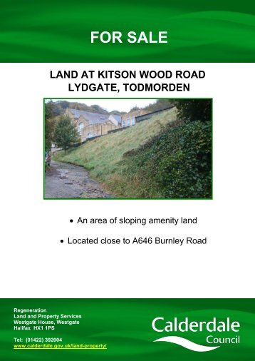 Land at Kitson Wood Road, Todmorden - Calderdale Council