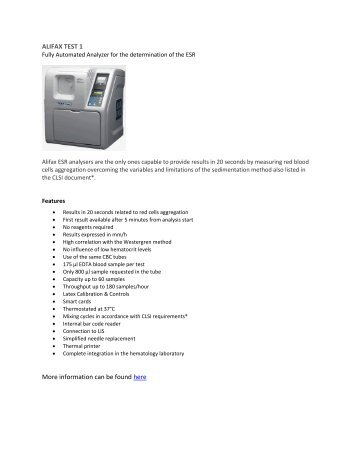 ALIFAX TEST 1 More information can be found here - EOS Healthcare