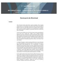 Declaració de Montréal - Declaration of Montreal