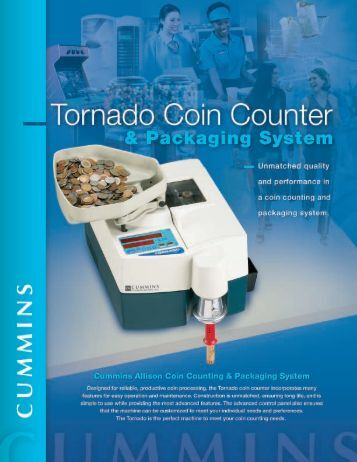 Tornado Coin Counter - Cummins-Allison Canada