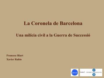 La Coronela de Barcelona - Cercle Català d'Història