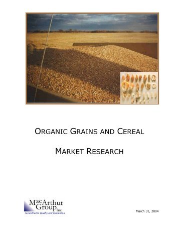 Organic Grains and Cereal Market Research Study - PEI Certified ...