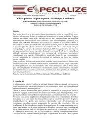 Obras públicas alguns aspectos - da licitação à auditoria - IPOG