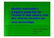 TECNOLOGIA - «Models matemàtics d'alguns aspectes de l