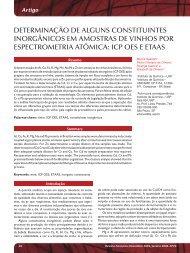 DETERMINAçãO DE ALGUNS CONSTITUINTES ... - Revista Analytica