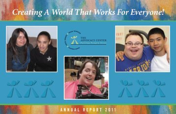 Creating A World That Works For Everyone! - The Advocacy Center