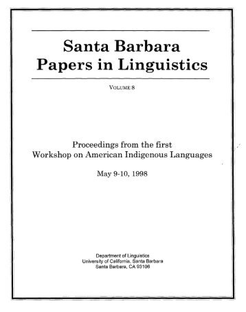 Volume 8 (1998) – Proccedings from the First Workshop on ...