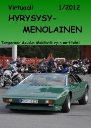HYRYSYSY- MENOLAINEN - Tampereen Seudun Mobilistit ry