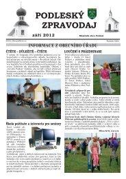 Podleský zpravodaj 2012 září - Obec Podlesí