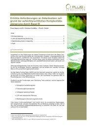 Erhöhte Anforderungen an Datenbanken auf ... - 1 PLUS i GmbH