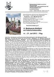19. Medjugorje-Wallfahrt mit Patenschaftstreffen 14. – 21. Juli 2012 ...