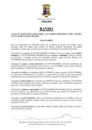 SOLICITUD DE LICENCIA DE OBRA - Chinchón