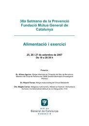 Dossier Alimentació i Exercici - Mútua General de Catalunya