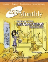 DISTRACTIONS - The ASJA Monthly