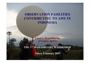observation fasilities contributing to amy in indonesia - MAHASRI