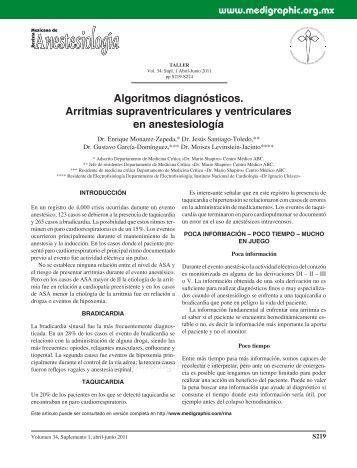 Algoritmos diagnósticos. Arritmias ... - edigraphic.com