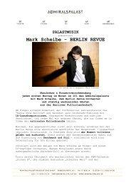 Mark Scheibe - BERLIN REVUE - Admiralspalast