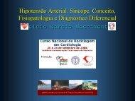 Hipotensão Arterial. Sincope. Conceito, Fisiopatologia e ... - SBC-SC