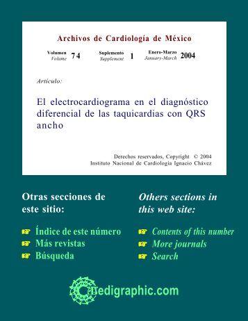 El electrocardiograma en el diagnóstico diferencial ... - edigraphic.com