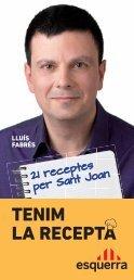 TENIM LA RECEPTA - Esquerra Republicana de Catalunya
