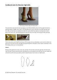Cardboard soles for Monster High dolls - Tarja's dolls and miniatures