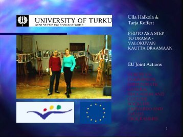 Ulla Halkola & Tarja Koffert EU Joint Actions