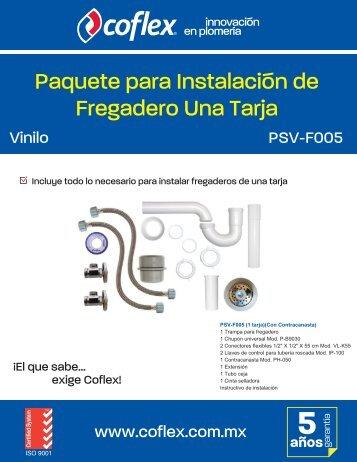 Paquete para Instalación de Fregadero Una Tarja - Coflex