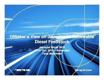 Offtaker's View on Jatropha as Renewable Diesel ... - Corpoica